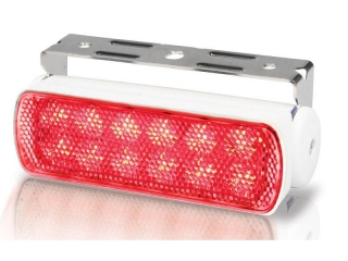 Sea Hawk – Spread Red LED Floodlights in White Housing and Bracket Mount