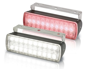 Sea Hawk XL White/Red Dual Colour LED Black Housing Floodlight