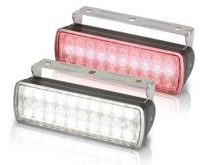 Sea Hawk XL White/Red Dual Colour LED Black Housing Floodlight