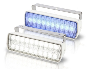 Sea Hawk XL White/Blue Dual Colour LED White Housing Floodlight