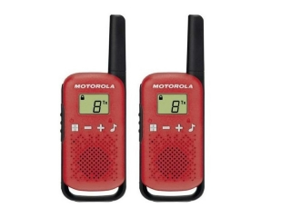 Talkabout TLKR T42 – PMR446 walkie-talkie radio, w/ 16 channels and a range up to 4km. Red ...