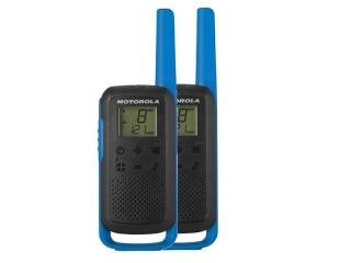 Talkabout TLKR T62 – PMR446 walkie-talkie radio, w/ 16 channels and a range up to 8km. Blue ...