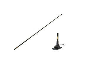 IBIZA – Marine VHF Antenna – 3dB – 1.4M w/ Mount and 6m Cable. Black version