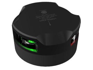 Luz LED de Navegação Circular Tricolor visível a 1 mn, c/ 20m de cabo – Montagem Horizontal. ...