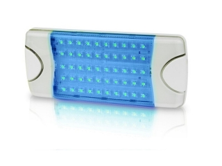 DuraLED 50LP Spread Blue LED low profile Lamp for interior, 1650 Lux @ 1m, 36° beam