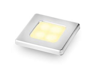 Slim Line Warm White 12V LED Courtesy Lamp w/ Stainless Steel square frame