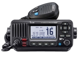 IC-M423GE – VHF / DSC Marine VHF Fixed Mount Radio w/ GPS and external GPS antenna