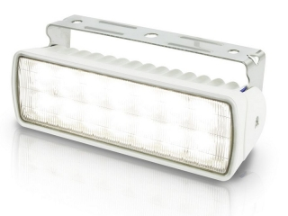 Sea Hawk-XLR white housing LED floodlight, spread pattern