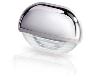 White LED Easy Fit Step Lamp – courtesy STEP White Led Lamp with Chrome Cap