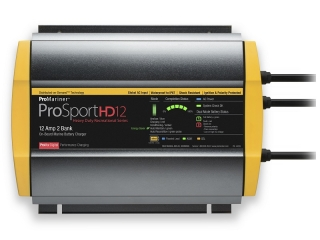 ProSportHD 12 – 12/24V| 12 A Waterproof Battery Charger – 2 Battery Bank