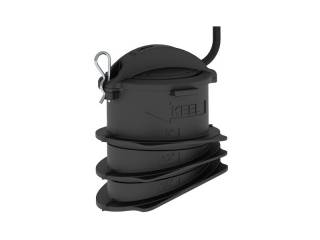 CPT-S In-Hull High CHIRP Depth Plastic Transducer, deadrise 0° to 25°