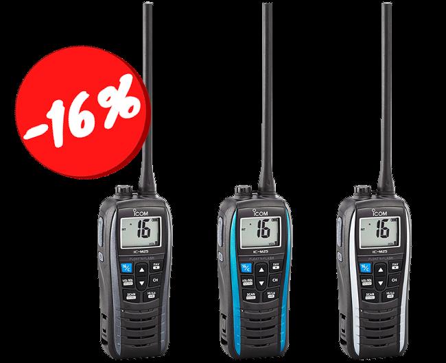 IC-M25 Handheld VHF Marine Radio